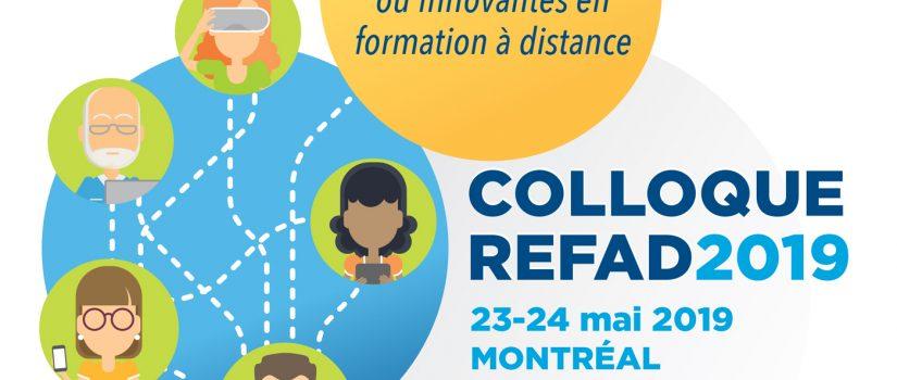 Pratiques inspirantes ou innovantes en formation à distance – Colloque 2019 REFAD