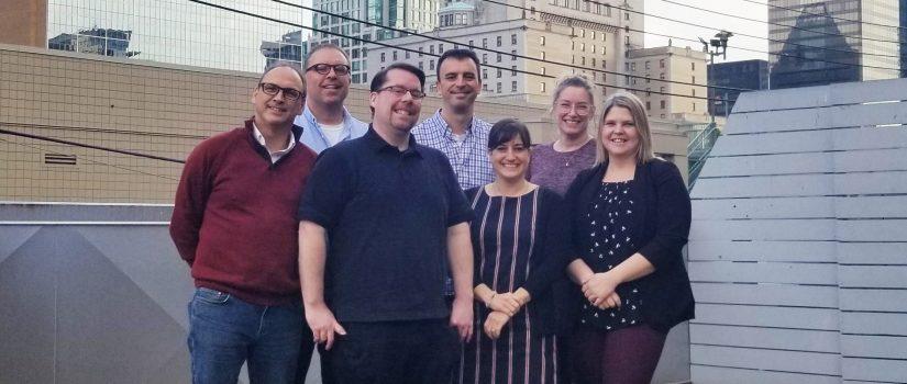 L'équipe de Pratiques FAD réunie à Vancouver  sous le thème du M-apprentissage